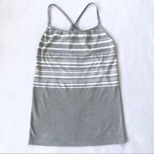 Athleta Stripe Performance Seamless Cami Tank Top